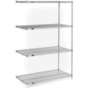 """Nexel®Stainless Steel Wire Shelving Add-On 48""""W x 24""""D x 74""""H"""