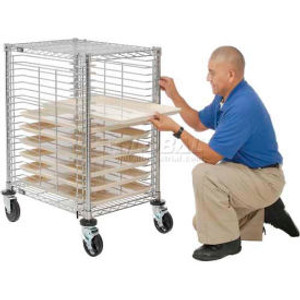 Nexel®End Load Wire Tray Cart with 19 Tray Capacity