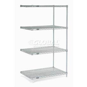"""Nexel®Stainless Steel Wire Shelving Add-On 48""""W x 18""""D x 86""""H"""