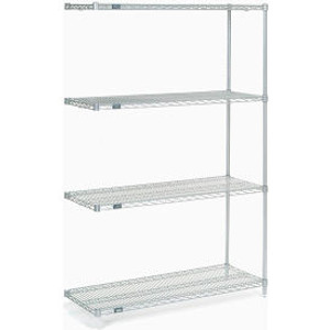 """Nexel®Stainless Steel Wire Shelving Add-On 48""""W x 18""""D x 74""""H"""