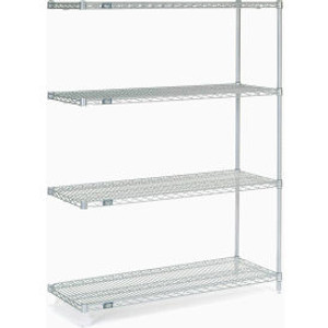 """Nexel®Stainless Steel Wire Shelving Add-On 48""""W x 18""""D x 63""""H"""