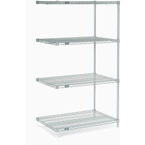 """Nexel®Stainless Steel Wire Shelving Add-On 36""""W x 24""""D x 63""""H"""
