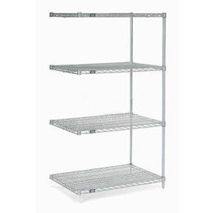 """Nexel®Stainless Steel Wire Shelving Add-On 36""""W x 18""""D x 86""""H"""