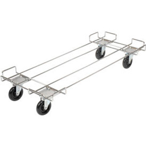 """Global Industrial153; Wire Rack Accessory 48 x 20 Dolly Base - 5 Poly Swivel Casters For 48""""W Bins"""