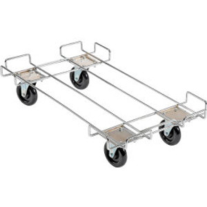 """Global Industrial153; Wire Rack Accessory 36 x 20 Dolly Base - 5 Poly Swivel Casters for 36""""W Bins"""