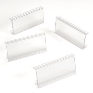 """Nexel®ABM3C-25 Clear Label Holder 3""""W x 1-1/4""""H With Paper Insert (25 Pc)"""