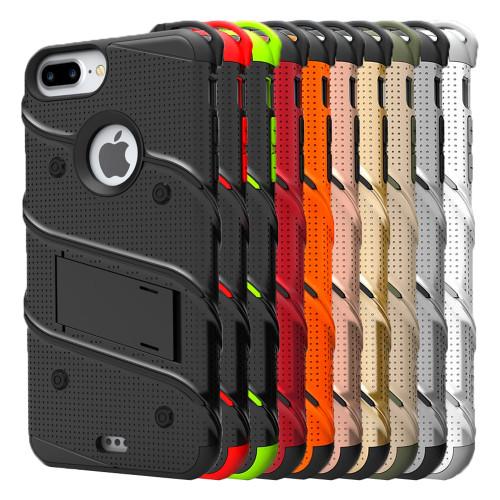 separation shoes a438b 81553 Zizo BOLT Case Holster Tempered Glass for iPhone 6 Plus / 6s Plus / 7 Plus  / 8 Plus