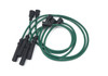 Green CAVIS style ignition spark plug wires FIAT 124 Spider and Sport Coupe - 1966-1971 (1438cc) with block mounted distributor - Auto Ricambi