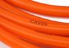 Orange CAVIS style 8mm spark plug wires Fiat 124 Spider, Sport Coupe, Sedan, Spider 2000 and Pininfarina - 1971-1985 - Auto Ricambi