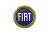 Blue Enamel Gold wreath FIAT Emblem FIAT 124 Spider - 1966-1982 (Can be fitted to all years) FIAT 124 Sport Coupe  - 1966-1972 - Auto Ricambi