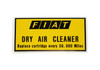 Dry air cleaner decal - Auto Ricambi FIAT Spider 2000 - 1979-1980 (carbureted)