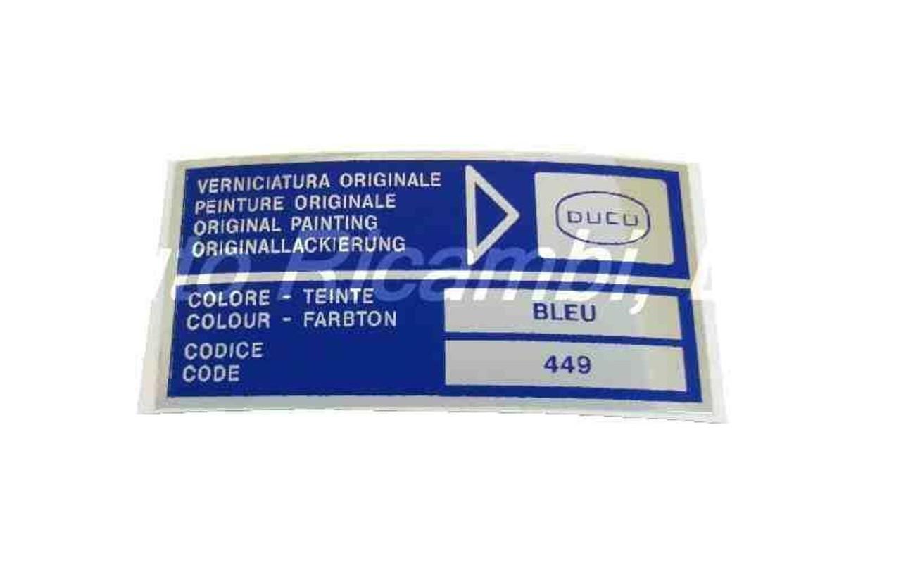 Paint Code Decal - DUCO Bleu (Blue)