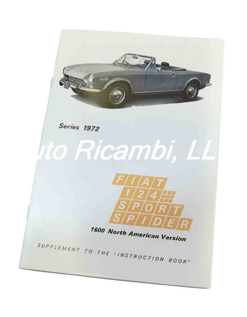 Owners Manual Supplement - early 1972