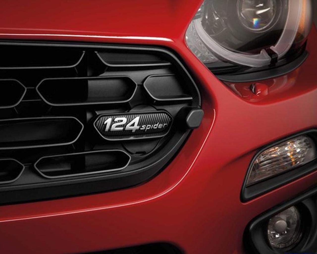 2017-on FIAT 124 Spider Grille Emblem - Black Finned