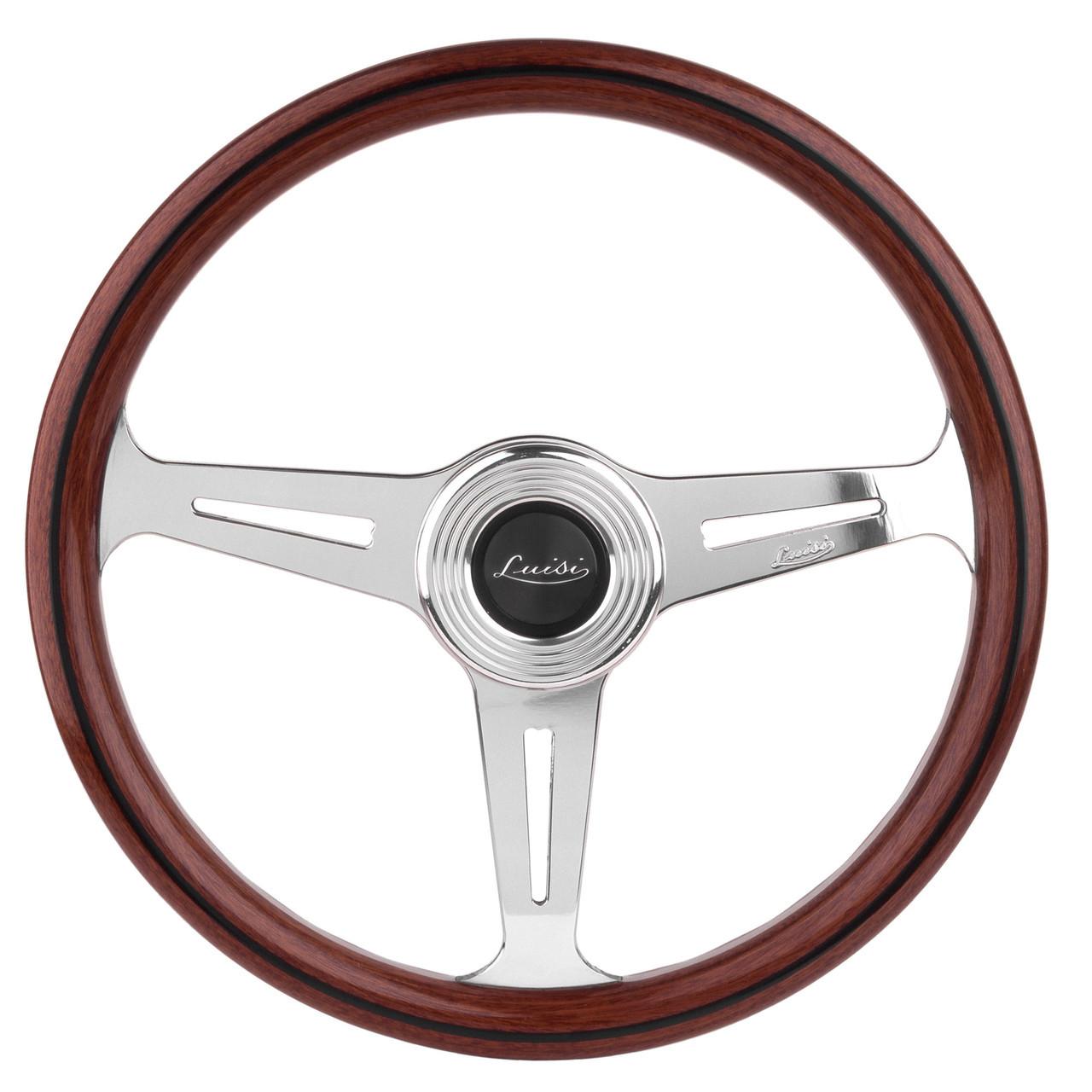 Mahogany steering wheel FIAT 124 Spider, Sport Coupe, Spider 2000 and Pininfarina - 1966-1985  - Auto Ricambi