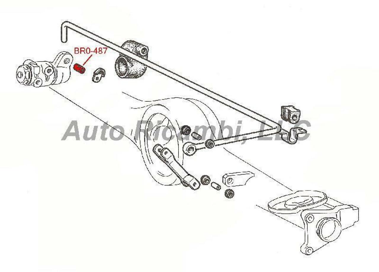 Brake Compensator Linkage Rod Spacer