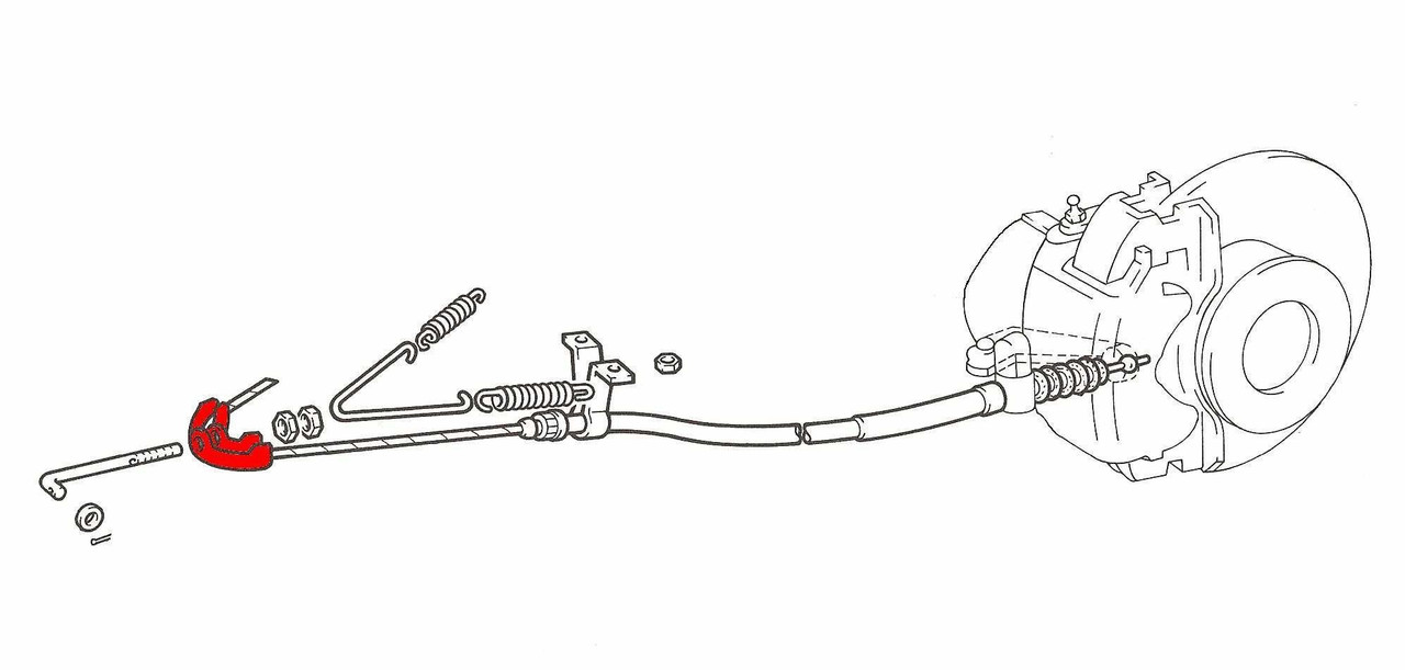 Hand Brake Cable Union