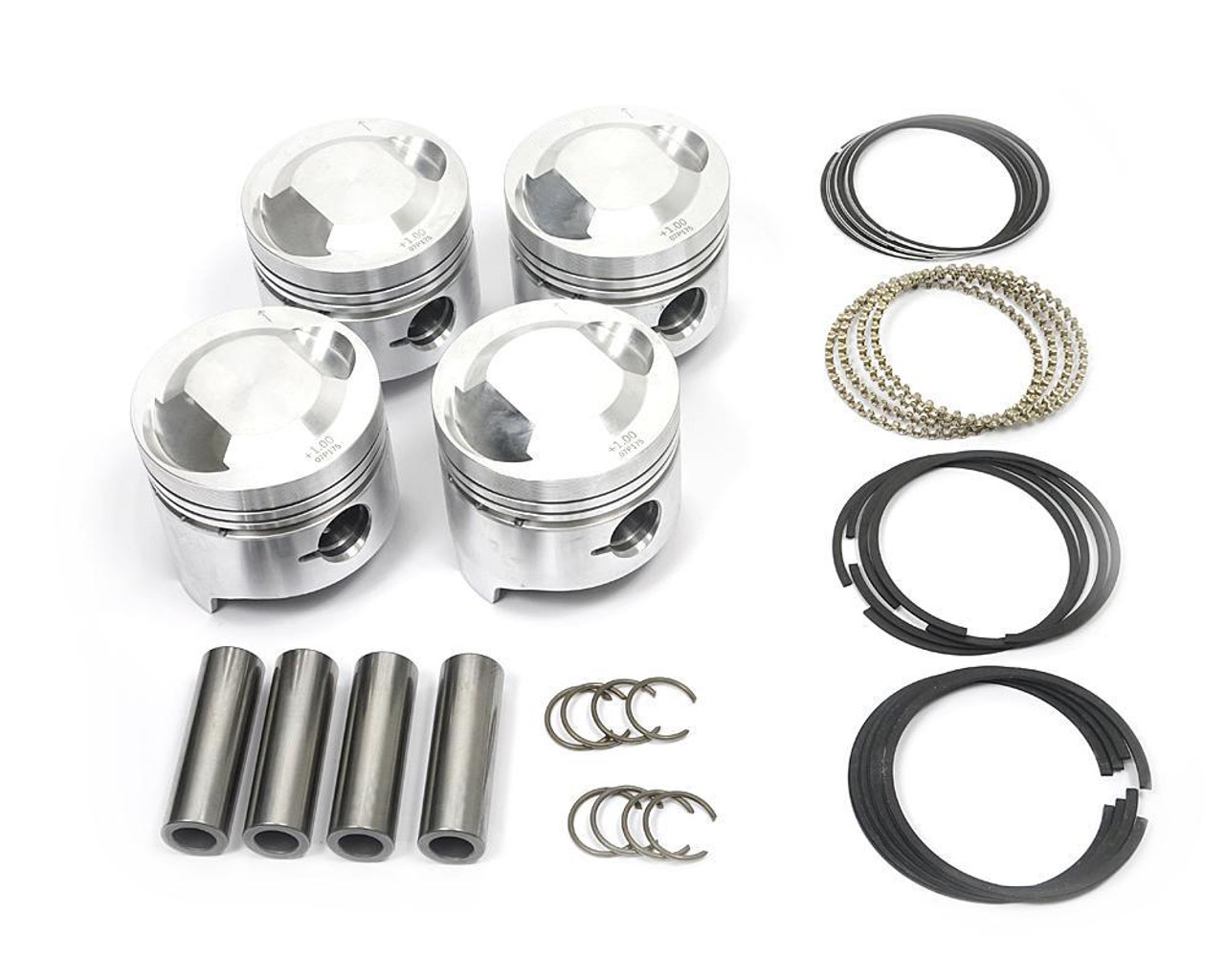 Piston Set - 1756 and 1995cc - 9.8:1 Compression Ratio