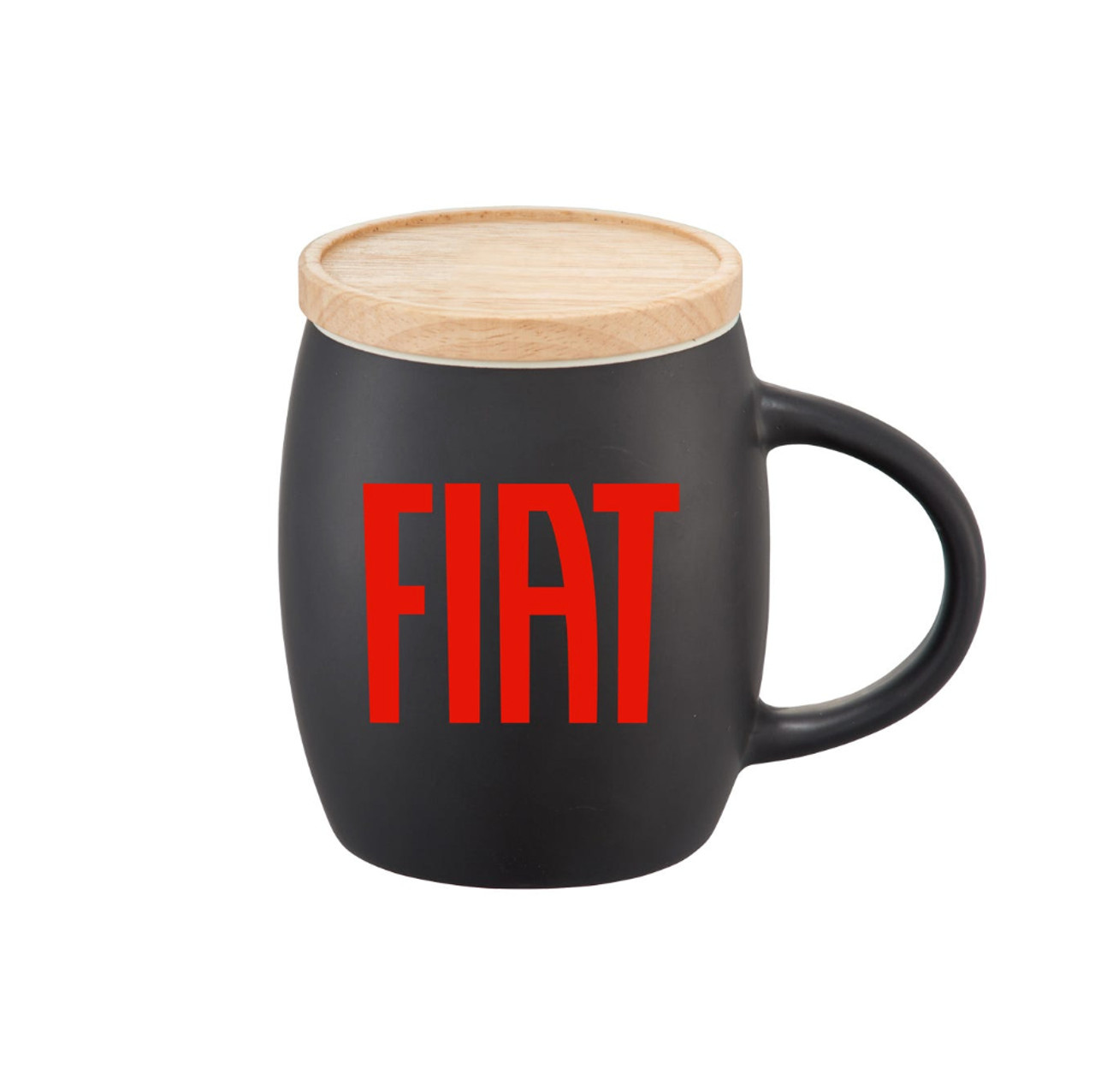 FIAT Coffee Mug with Wooden Lid