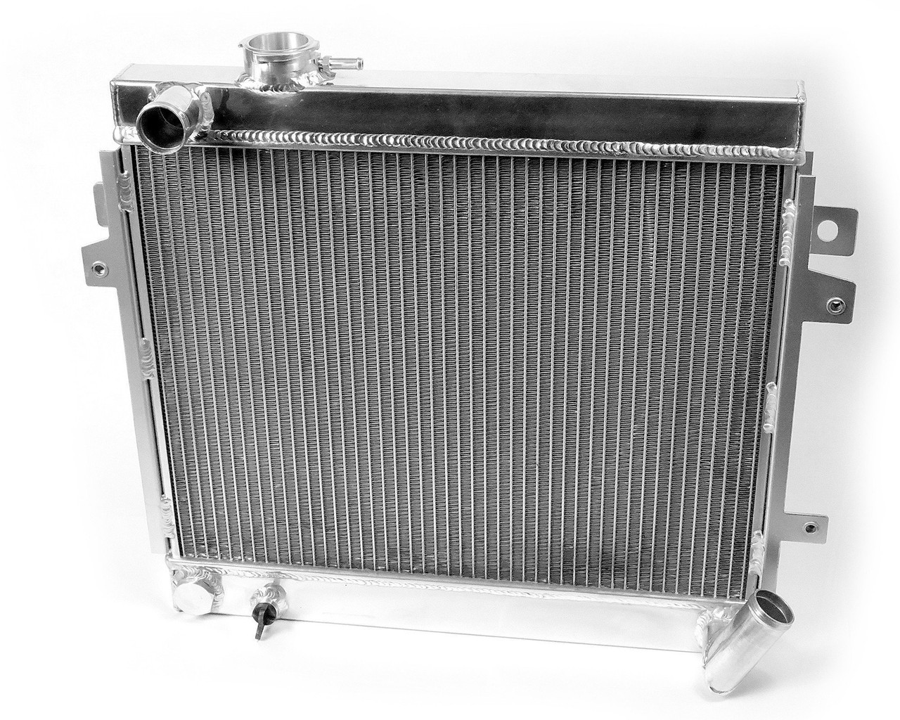 Auto Ricambi performance aluminum radiator FIAT Spider 2000 and Pininfarina 1980-1985 with Bosch fuel injection and manual transmission (1995cc)