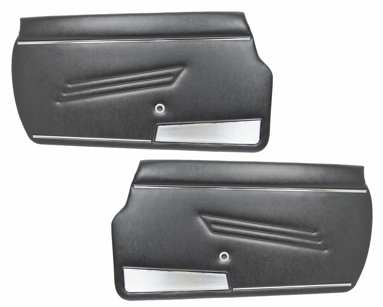 Auto Ricambi Door Panel Pair - Black - 1966-78 FIAT 124 Spider Parts