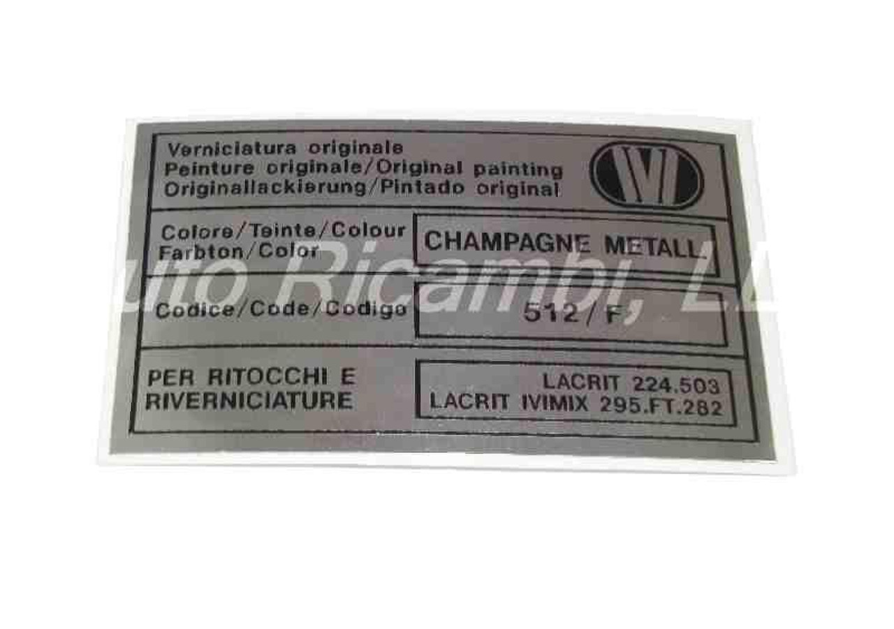 Paint Code Decal - IVI - Champagne Metall (Metallic Champagne)