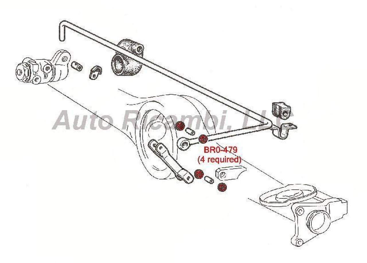 FIAT 124 Spider Brake Compensator Linkage Rod Bushing