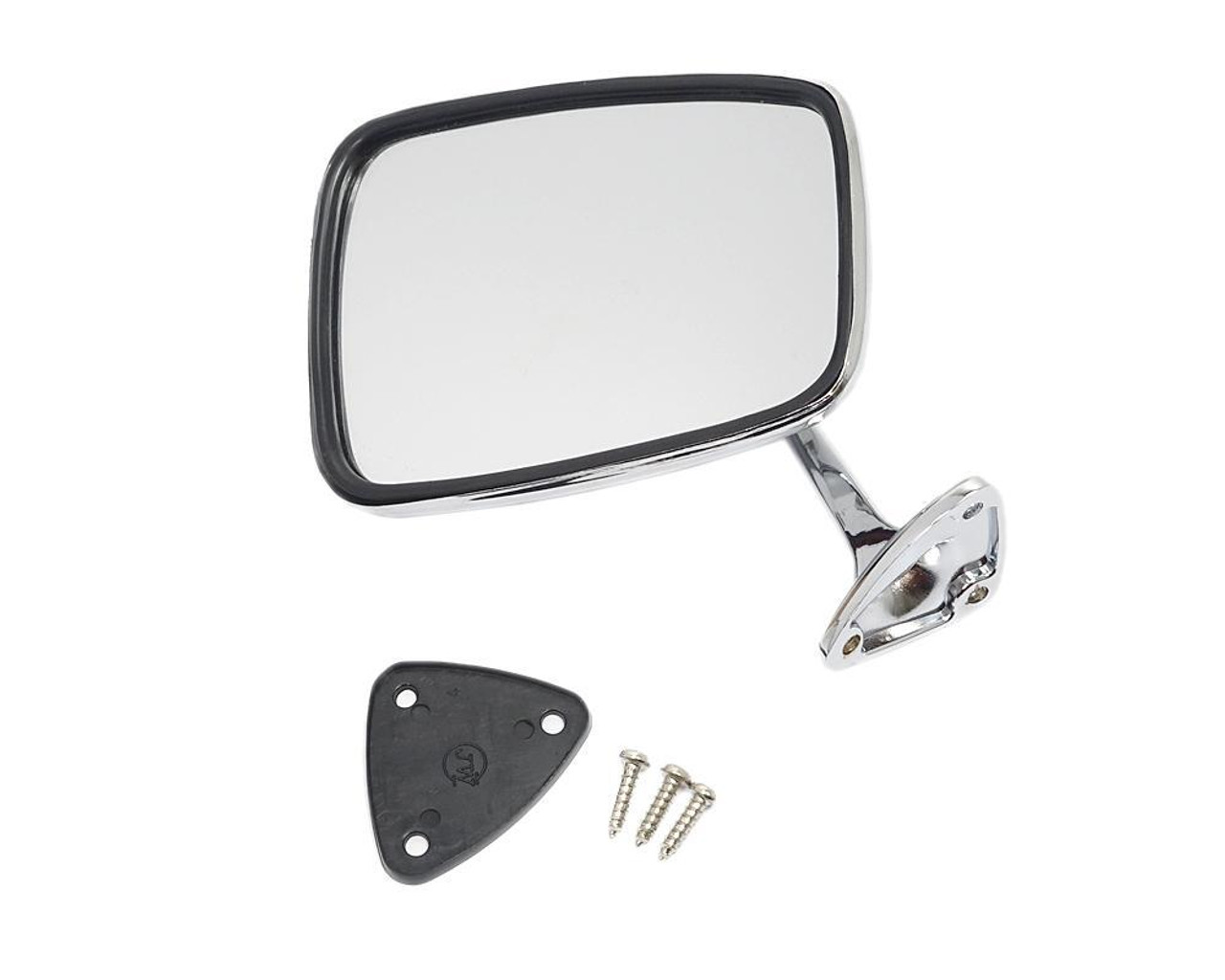 Chrome Convex Exterior Rear View Mirror - 1966-78