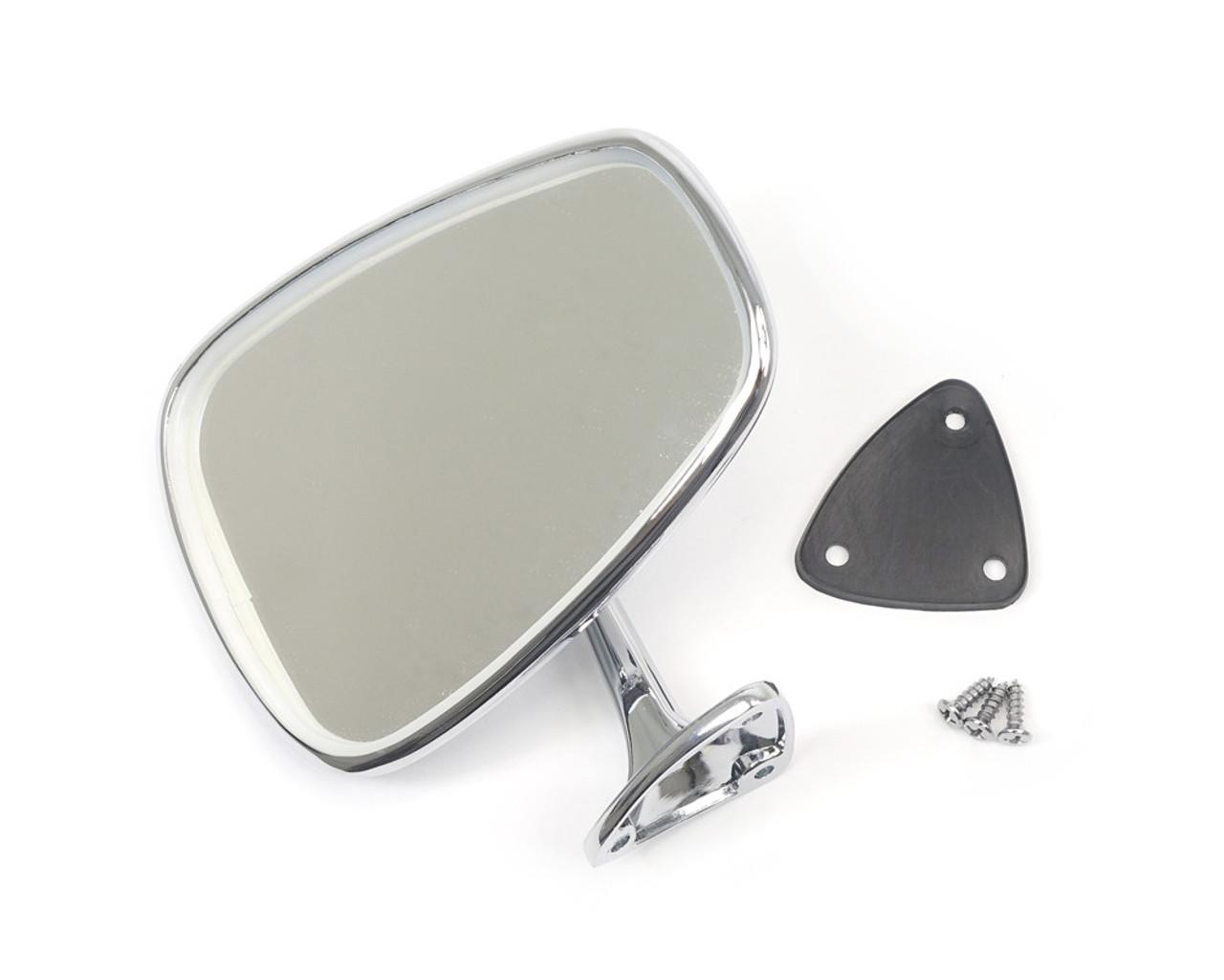 FIAT 124 Vitaloni Chrome Exterior Mirror - 1966-78 (RE6-081) - Auto Ricambi