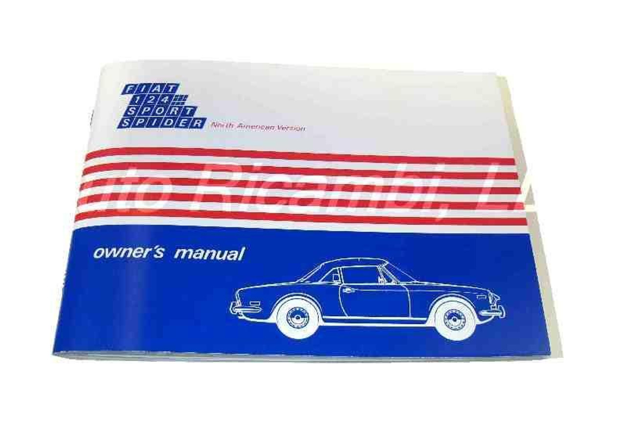 Auto Ricambi FIAT 124 Spider 1972 Owners Manual FIAT 124 Spider Parts