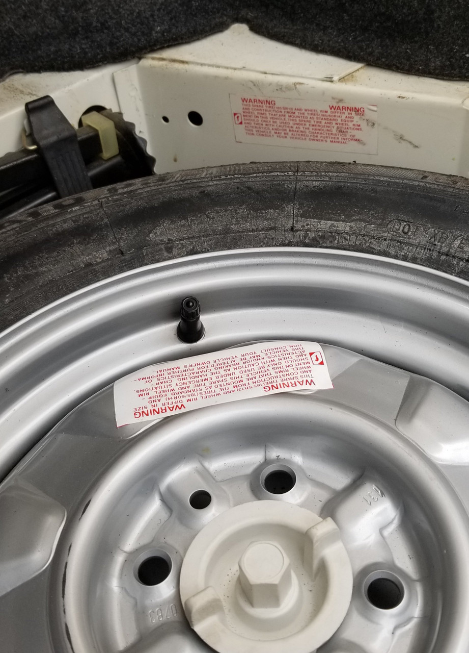 Warning - Spare Tire Decal