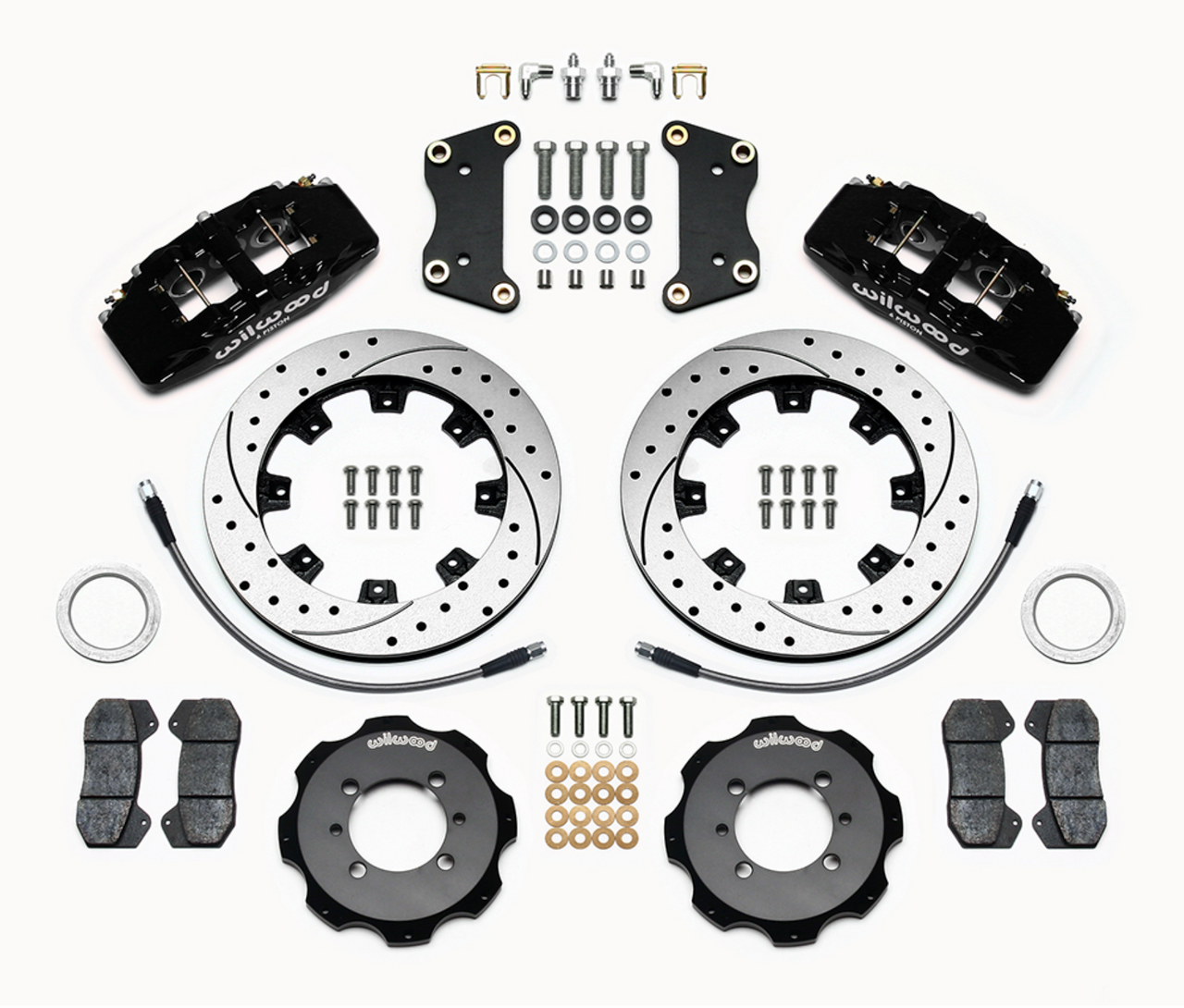 2012-on FIAT 500 Wilwood Front Big Brake Kit - Black Calipers - Auto Ricambi