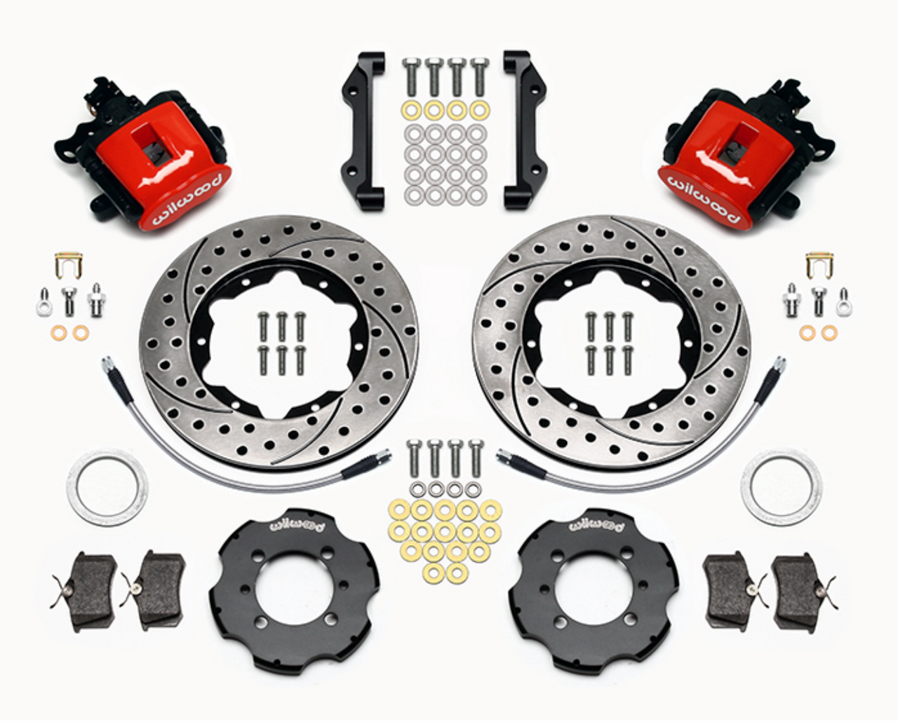 2012-on FIAT 500 Wilwood Rear Brake kit - Red Calipers - Auto Ricambi