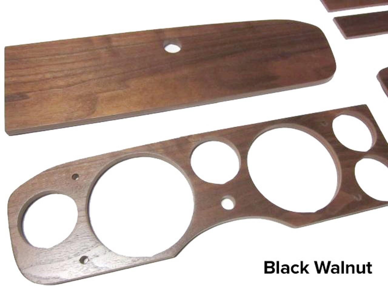 FIAT 124 Spider Dash Wood Set - Black Walnut - Auto Ricambi