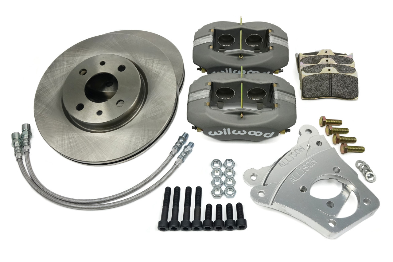 """Wilwood big brake caliper kit with vented (10.25"""") brake rotors FIAT 124 Spider, Sport Coupe, Spider 2000 and Pininfarina - 1966-1985 - Auto Ricambi"""
