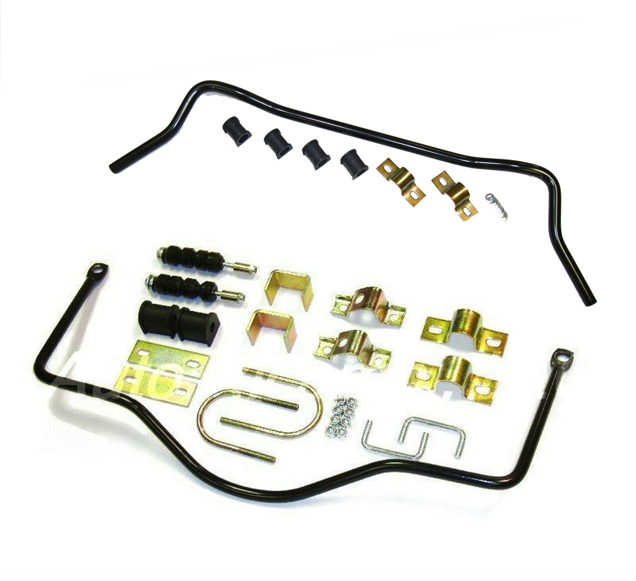"""High performance set:  1"""" (25mm) diameter front anti-sway bar and 5/8"""" diameter rear anti-sway bar FIAT 124 Spider, Sport Coupe, Spider 2000 and Pininfarina - 1969-85 - Auto Ricambi"""