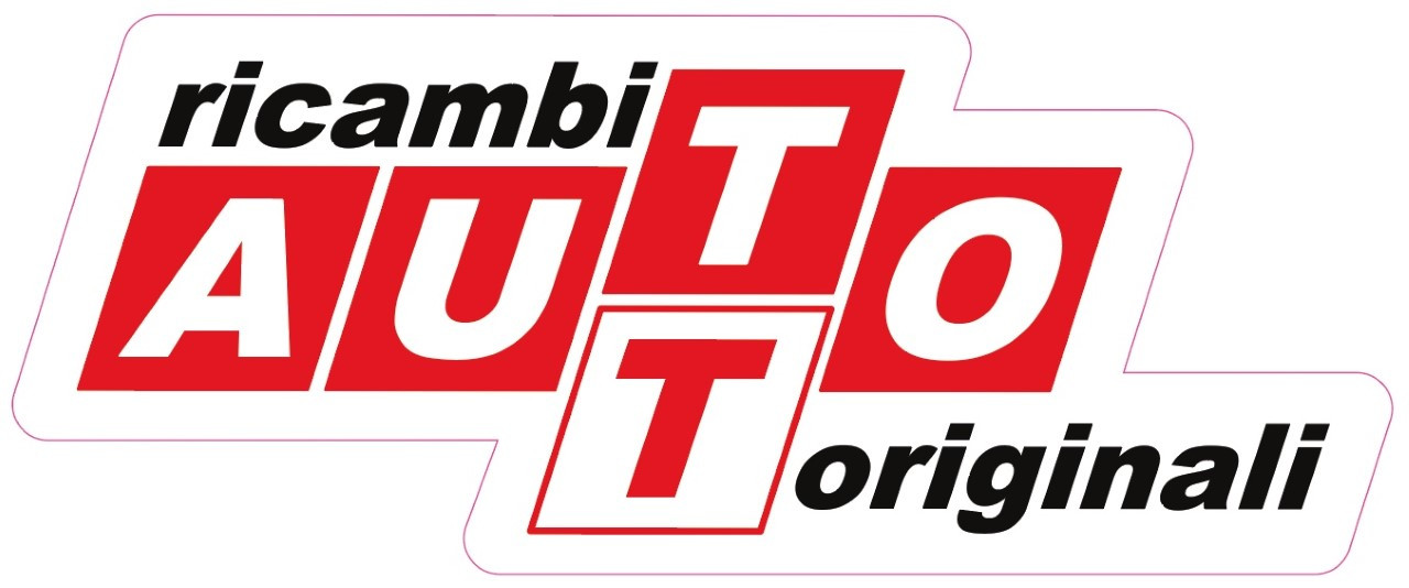 Ricambi AUTO Originali Logo   Approximately 3 x 1.25 inches die cut decal. This is a faithful reproduction of a classic FIAT logo. Great for toolboxes.