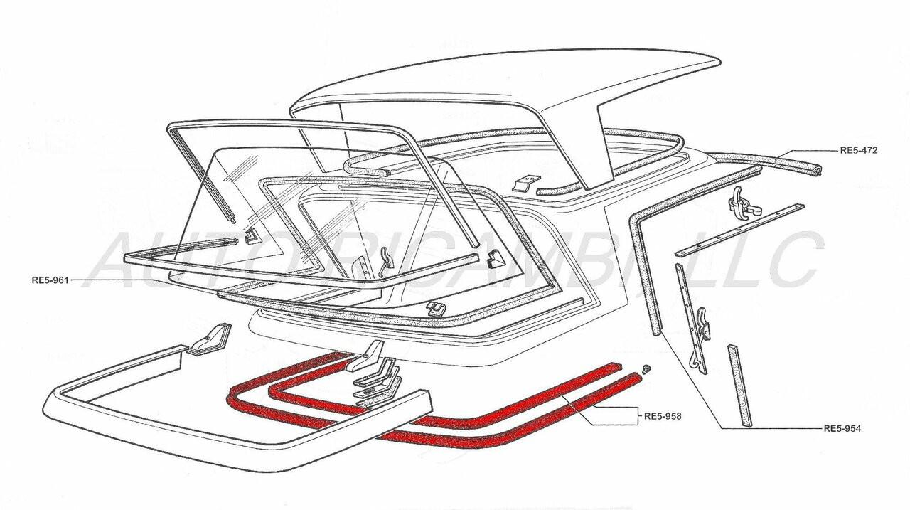 Pininfarina Hard Top Rear Base Gasket Set