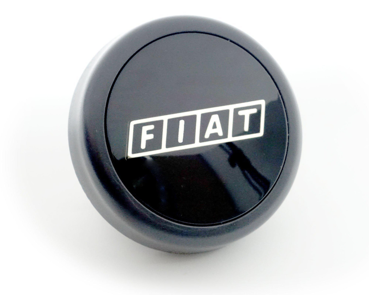 Alloy Wheel Center Cap - FIAT on Black