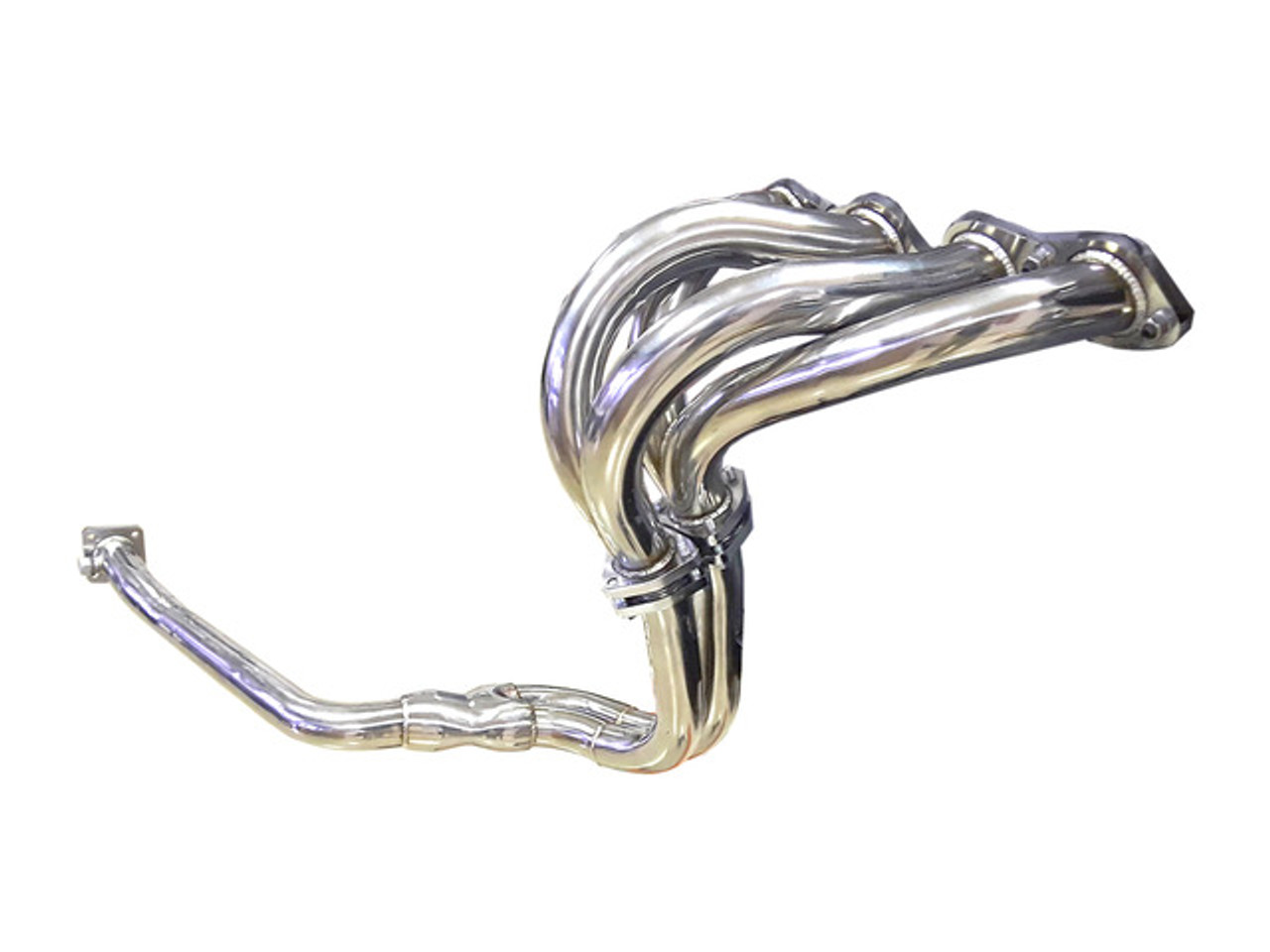 Stainless Steel Abarth style header - Auto Ricambi FIAT Spider 2000 and Pininfarina - 1980-1985