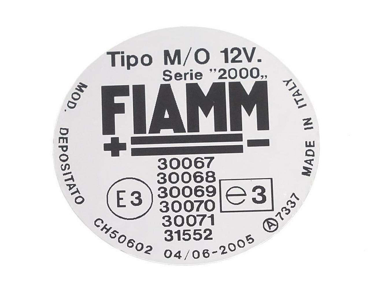 FIAMM Compressor Decal - 31552