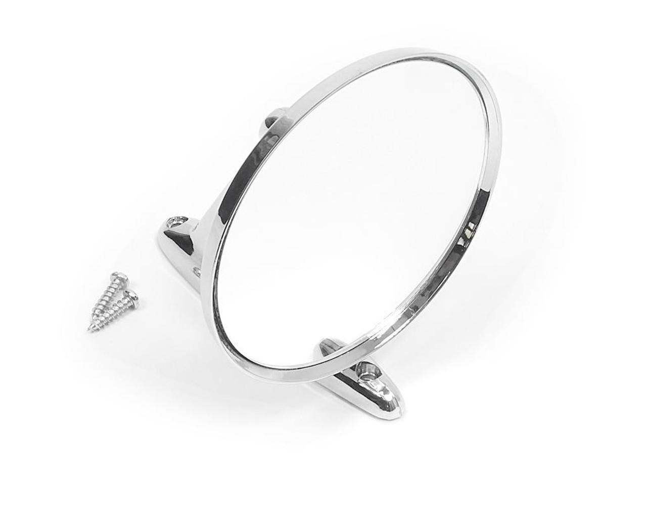 Exterior Chromed Plastic Rearview Mirror