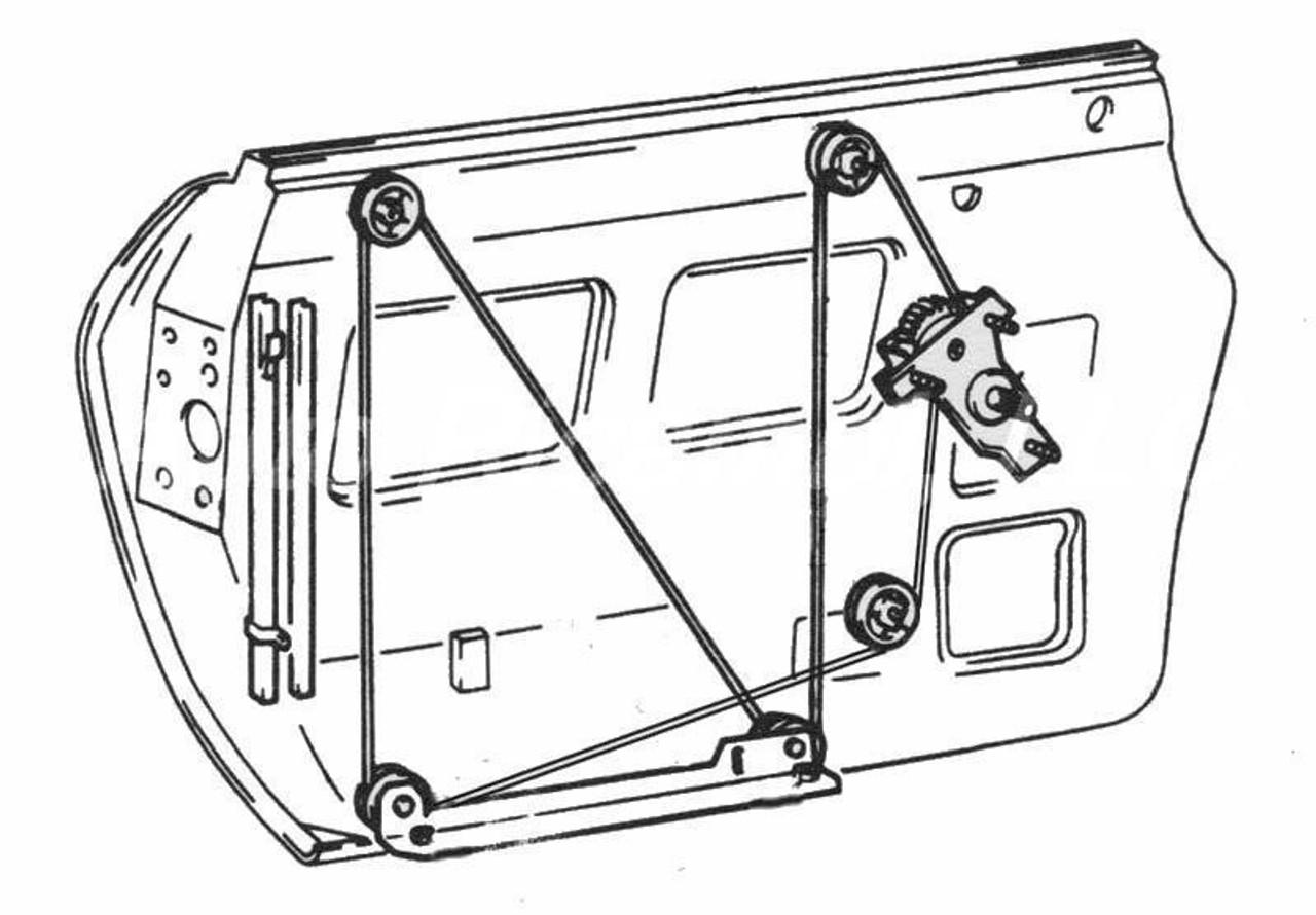 Manual Window Regulator - 1966-82