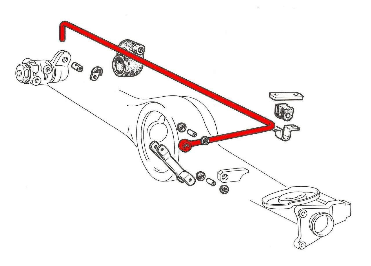 FIAT Spider Brake Compensator Linkage Rod