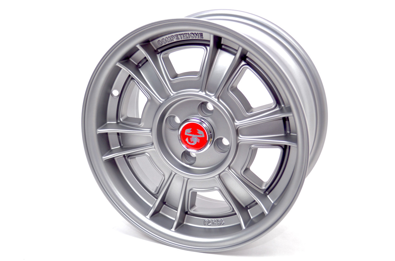 CD-66 style wheel Set of 4 Matte Grey - Auto Ricambi FIAT 124 Spider, Sport Coupe, Spider 2000 and Pininfarina - 1966-1985