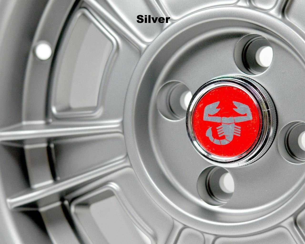 CD-66 style wheel Set of 4 Silver - Auto Ricambi FIAT 124 Spider, Sport Coupe, Spider 2000 and Pininfarina - 1966-1985