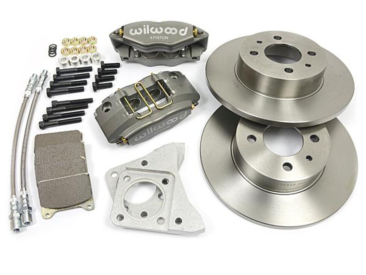 """Wilwood big brake caliper kit with large (10"""") brake rotors FIAT 124 Spider, Sport Coupe, Spider 2000 and Pininfarina - 1966-1985 - Auto Ricambi"""