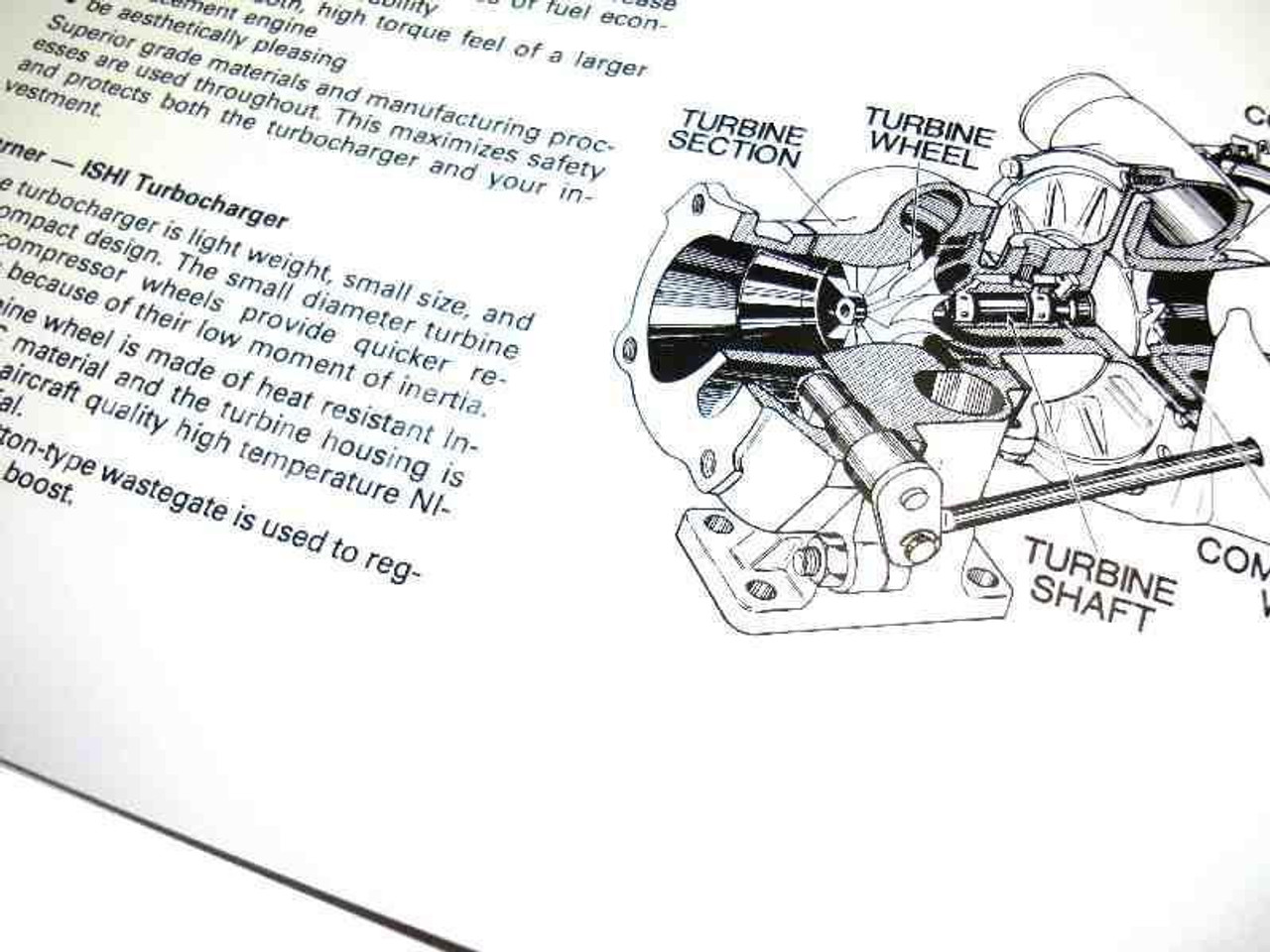 Turbo Owners Manual Supplement - 1981