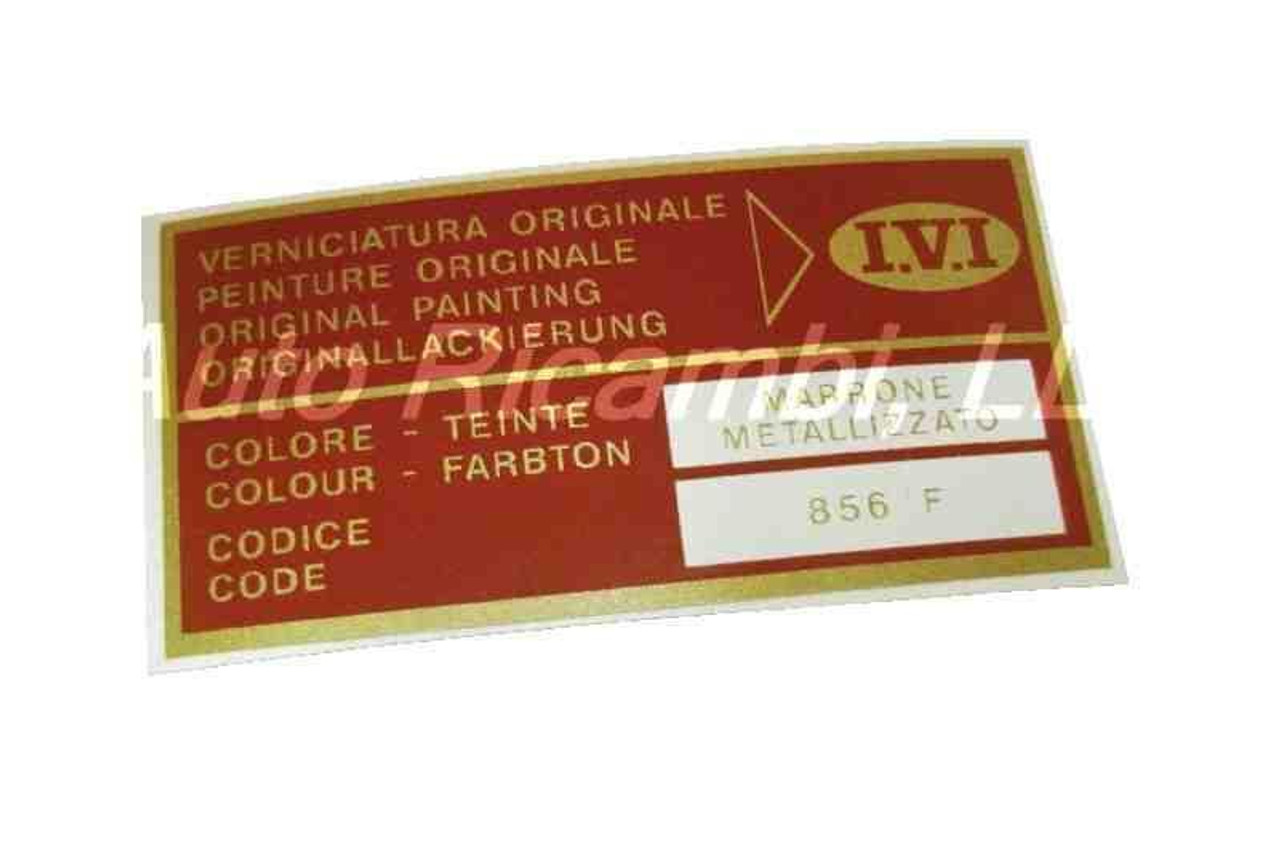 Paint Code Decal - IVI Marrone Metallizzato (Metallic Brown)