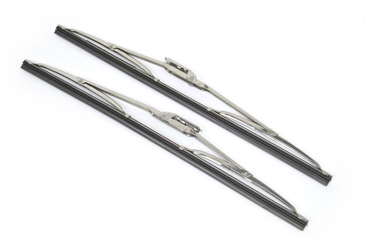Stainless Steel 15 Inch Wiper Blade Set - 1979-85